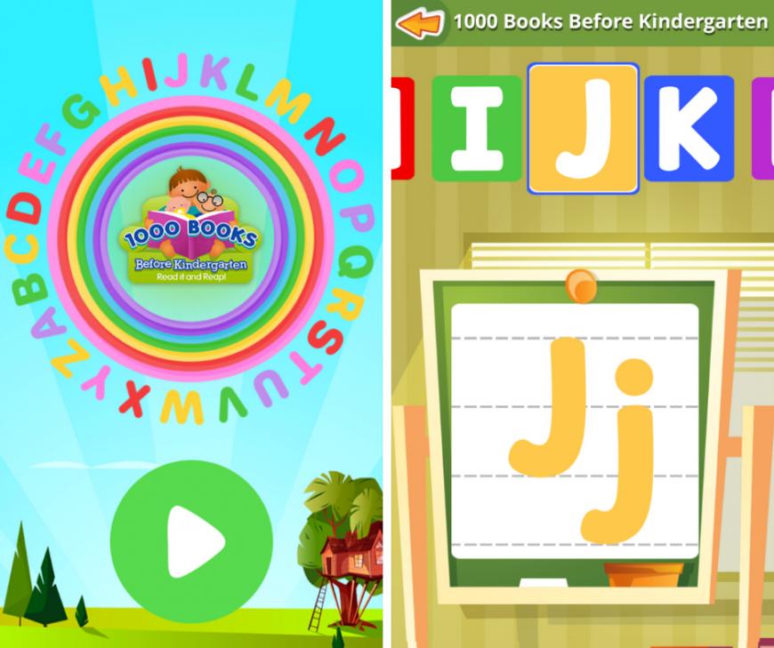1000 Books Before Kindergarten ABC Writing App