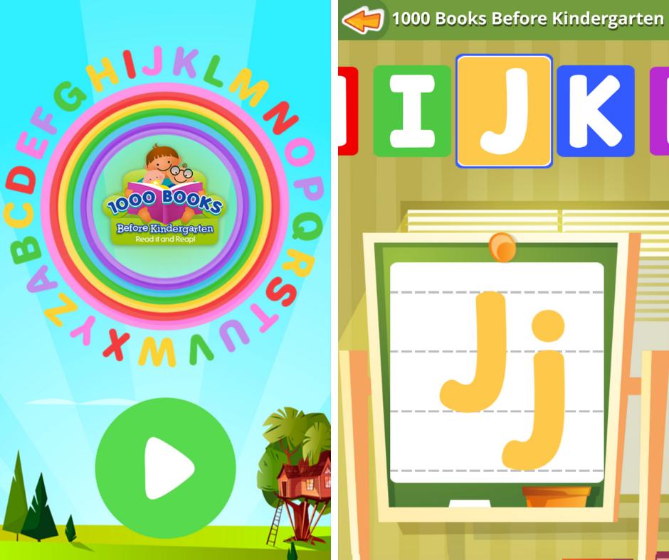 1000 Books Before Kindergarten ABC Letter Writing App
