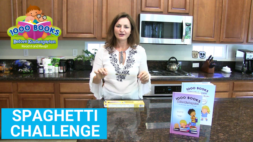 Take the 1000 Books Before Kindergarten Spaghetti Challenge!