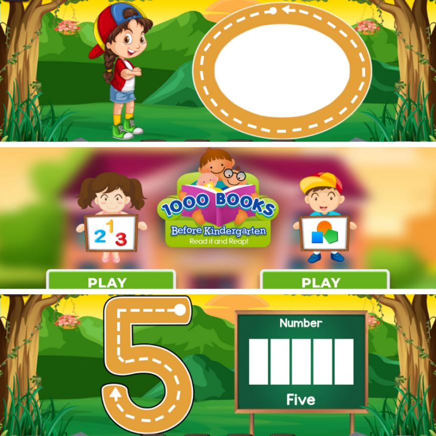 1000 Books Before Kindergarten Numbers & Shapes App